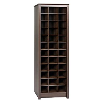 Prepac Shoe Storage Cabinet 36 Pair Rack Espresso
