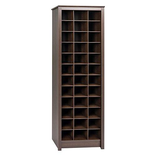 Prepac Shoe Storage Cabinet, 36 Pair Rack, Espresso
