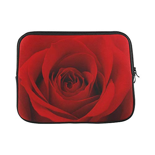 Design Custom Close Up Photo of Red Rose Flower Sleeve Soft Laptop Case Bag Pouch Skin for MacBook Air 11'(2 Sides)