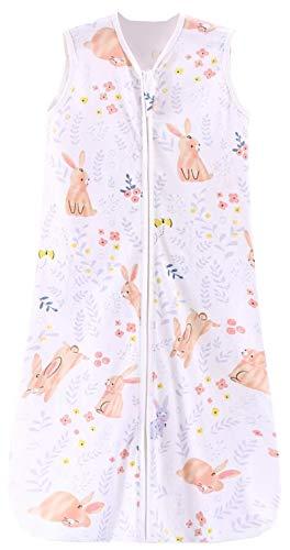 Chilsuessy Sommerschlafsack Baby Schlafsack Kleine Kinder Schlafanzug ohne Ärmel für Sommer und Frühling 100% Baumwolle (130/Baby Höhe 130-150cm, Süß Kaninchen)