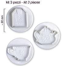 Pavoni 3 Piece Plunger Cutter Set - Tea Time by Culpitt
