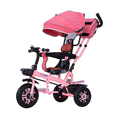 Best Prices! XIAOYANG Tricycle Baby Cart Kids Bike Multifunction Comfortable Back with Foot Pedal 1 ...