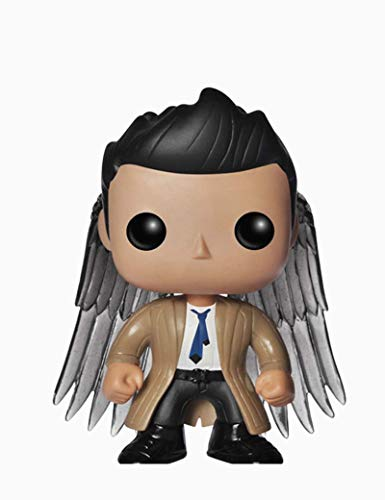 ZYJTJQ Castiel mit Flügeln Vinyl Figur Vinyl Supernatural Dean Winchester Figur
