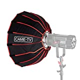 Came-TV 23.6 inches/60cm Collapsible Parabolic Softbox with Bowens Speedring Mount Grid Quick Setup Diffuser for LED Video Lighting and Other Bowens Mount Lights