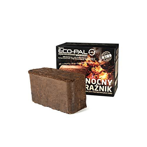ECO-PAL Nachtwächter, Gluthalter, Nachtbrikett, Kamin Ofen Brennstoff, Briketts mit höchster Qualität, lange Brenndauer, umweltfreundlich, Zertifiziert, 1,6 kg