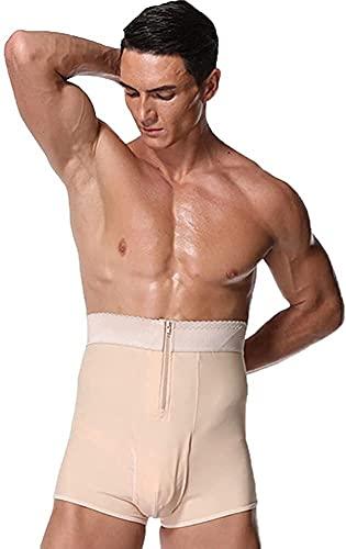 Hombre Shapewear Breve Ropa Interior Faja Boxer Slimmer Control de la abdanza Pantalones Cortos Faja Cuerpo Shaper Mens Compression Shorts (Color : Rosa, Size : XX-Large)