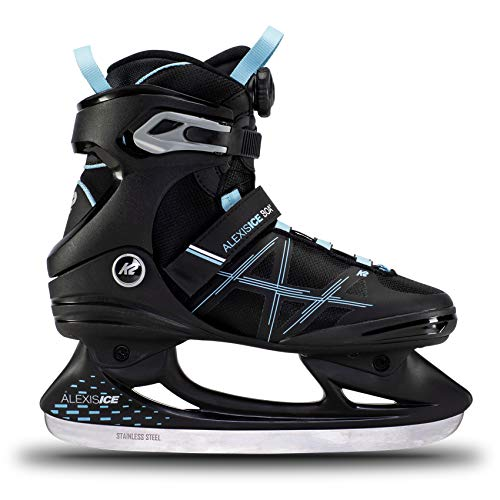 K2 Skates Damen Schlittschuhe Alexis Ice Boa, Black/Blue, UK: 4.5