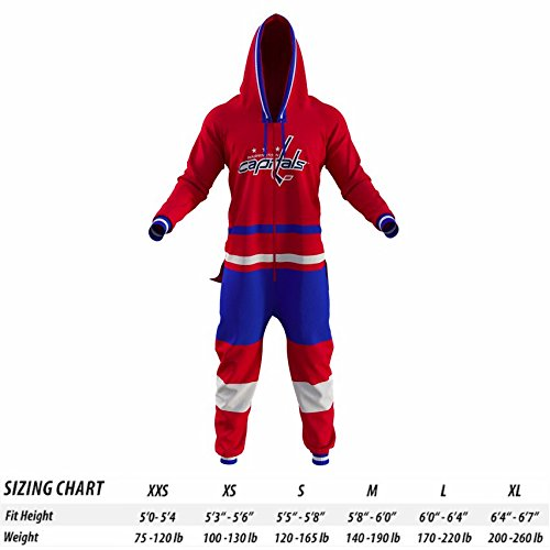 Hockey Sockey Washington Capitals NHL Adult Onesie (L)