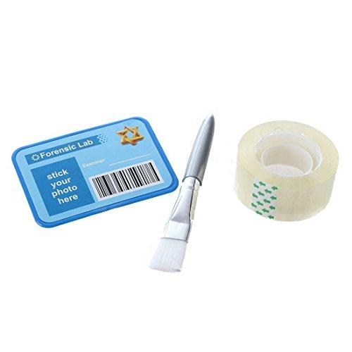 TOOGOO Fingerabdruecke Set Detektiv Experimente Spielzeug mit Stempelkissen Lupe Pinsel