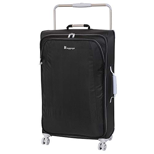 IT Luggage 31.5' World's Lightest 8 Wheel Spinner, Raven With Vapor Blue Trim, One Size