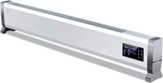 Calentador de zócalo: Calentador termoeléctrico de Velocidad doméstica, Pantalla Grande de Doble Escape montable en la Pared del Viento, Control Remoto 2600W +, Blanco