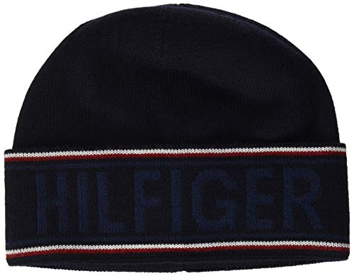 Tommy Hilfiger Hilfiger Beanie Gorro/Sombrero, Corporate, OS para Hombre