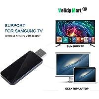 Velidy - Adaptador inalámbrico para TV (USB, WiFi, 802.11ac, 2,4 GHz y 5 GHz, Doble Banda, USB, WiFi, Adaptador para Samsung Smart TV WIS12ABGNX WIS09ABGN 300 m)