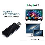 Velidy - Adattatore wireless USB TV Wi-Fi, 2,4 GHz e 5 GHz Dual Band Wireless Network USB Wifi per Samsung Smart TV WIS12ABGNX WIS09ABGN 300 M