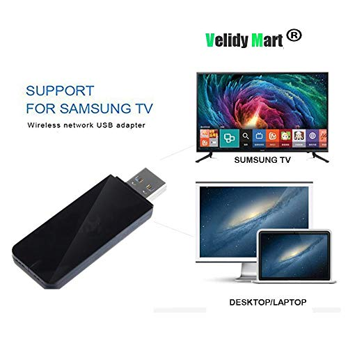 Velidy USB TV Wireless Wi-Fi Adapter, 802.11ac 2,4 GHz und 5 GHz Dualband Wireless Netzwerk USB Wifi Adapter für Samsung Smart TV WIS12ABGNX WIS09ABGN 300 M