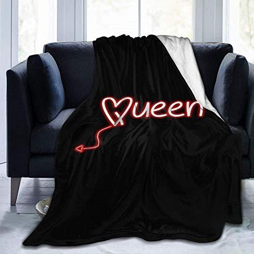 Ni-r-v-a-n-a, coperta in pile ultra morbido, decorazione per la casa, per divano letto, 150 cm x 150 cm