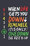 When Life Gets You Down: Notebook 6x9 Checkered White Paper 118 Pages | Motorcycle | Bike Riding