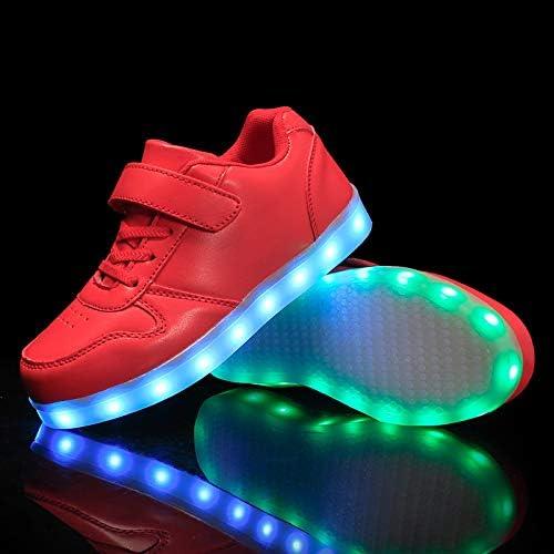 UK Kids Boys Girls LED Light Up Shoes Luminous Flashing Trainers Sneakers Xmas