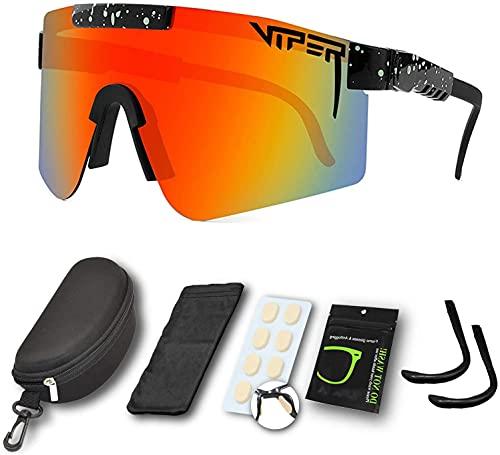 Gafas de sol deportivas para hombres y mujeres, gafas de ciclismo al aire libre, gafas de sol polarizadas de doble ancho UV400, gafas de sol resistentes al viento, para montañismo