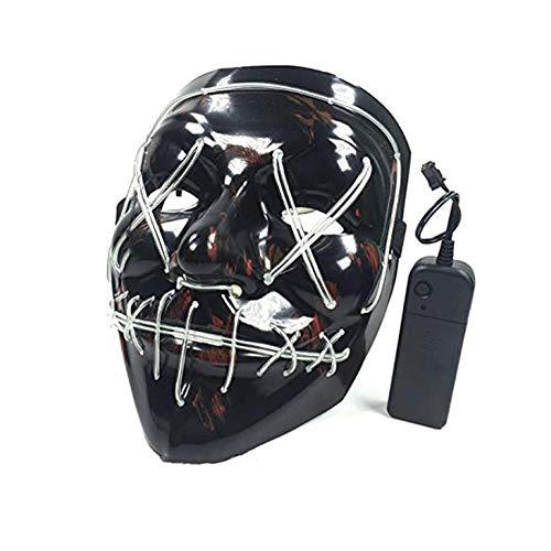 Xiton 1PC Halloween-Maske LED leuchtet Tanzen Maske Versorgung für Festival Cosplay Halloween Kostüm (Batterie Nicht mit einschließen) Lila