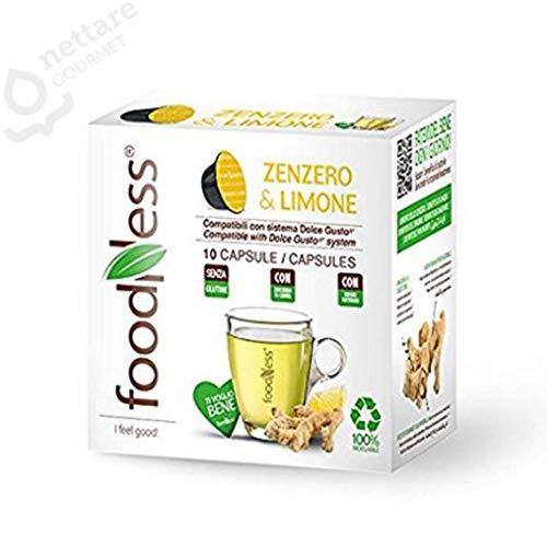 10 capsule Zenzero & Limone compatibili DOLCE GUSTO* FoodNess