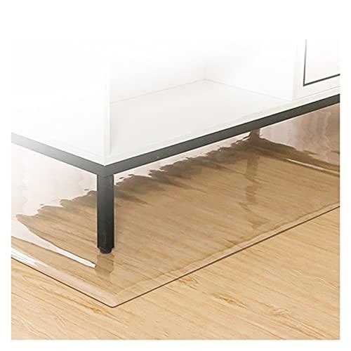 ALGXYQ Alfombrillas Transparentes PVC para Sillas Piso Duro Impermeable Antideslizante PVC Plastico Manteles para Protección Piso Alfombra, Tamaño Personalizado