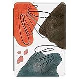 Funda para Kindle Paperwhite 2018 de piel sintética con tapa y silicona TPU, diseño de flores abstractas y coloridas