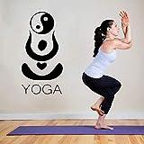 Ajcwhml Etiqueta de la Pared de Yoga hindú patrón calcomanía de Pared Yoga Studio Art Mural Vinilo extraíble diseño Especial decoración del hogar Pegatina - 57X30CM-57X30CM