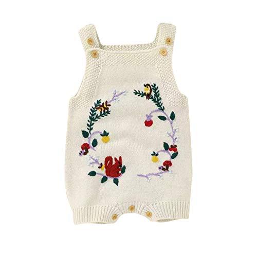 Pelele caliente con tirantes – Para bebés y niños – Unisex – Diseño de corona de flores – Mono – Marca francesa – crudo crudo 6-12 Meses