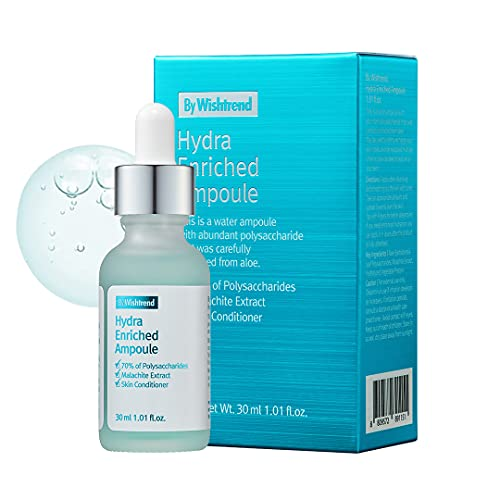 [By Wishtrend] Hydra Enriched Ampoule 30ml, 1.01 Fl Oz | Intensive Aloe Vera Serum for Dehydrated, Sensitive skin