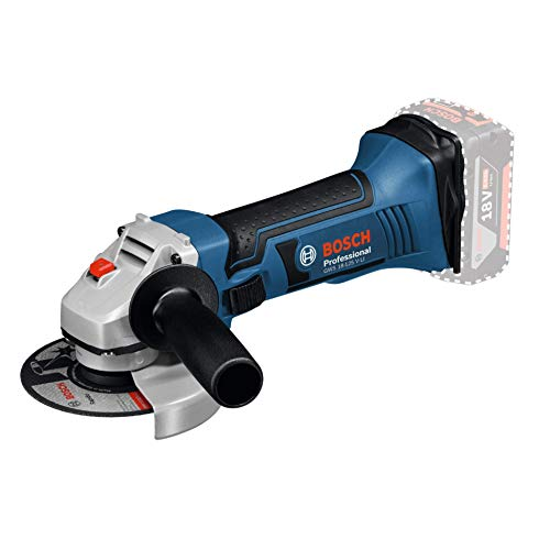Bosch Professional GWS 18-125 V-LI Amoladora angular, 10.000 rpm, Disco 125 mm, sin batería, en caja, 18 V, Azul, 12.7 cm