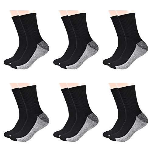 TECHTIC Walking Socks Casual Crew Socks Wicking Breathable Cushion Anti...
