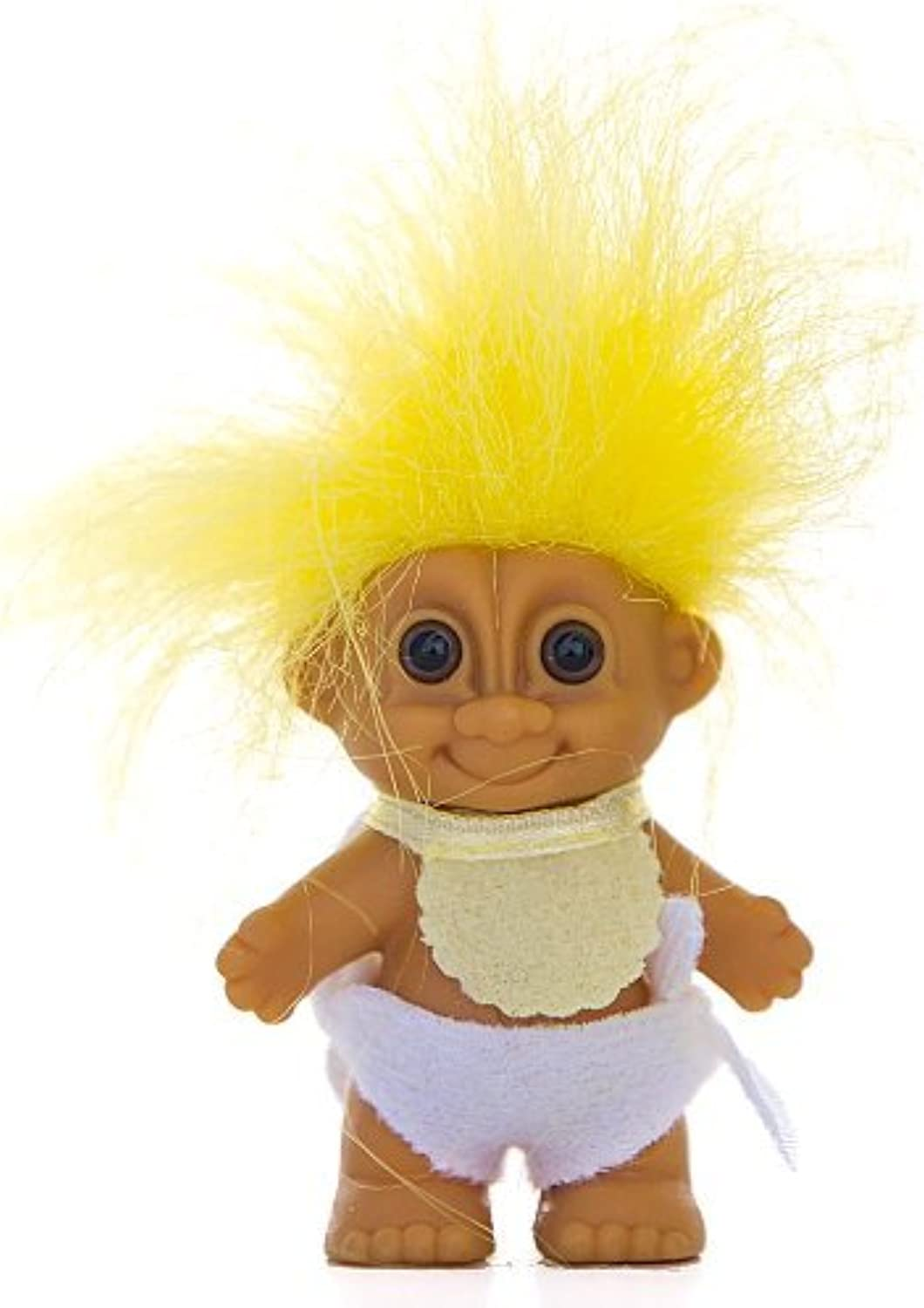 barato My Lucky Mini 2.5 BABY Troll Doll - - - amarillo Hair by Russ Berrie by Russ Berrie  moda clasica