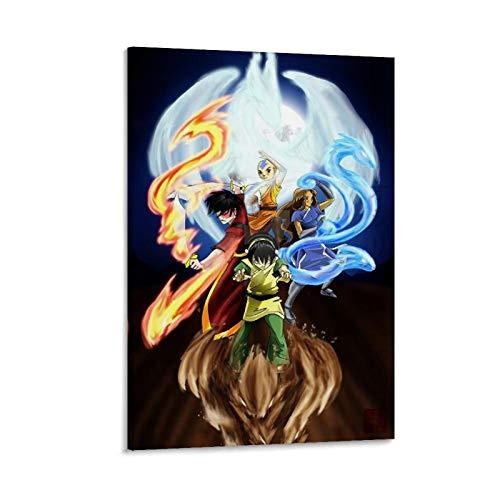 yizhimei Avatar La Leyenda De Aang - Póster decorativo para pared, diseño de Avatar La Leyenda De Aang (50 x 75 cm)