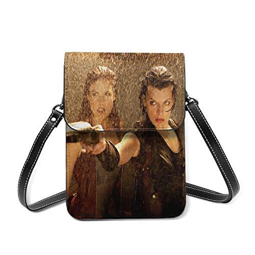XCNGG Monedero pequeño para teléfono celular R-esi-dent E-vil Lightweight Leather Phone Purse, Women Multicolor Handbag Small Crossbody Bag Mini Cell Phone Pouch Shoulder Bag.with Adjustable Strap