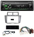 caraudio24 Pioneer MVH-S120UBG AUX USB MP3 1DIN Autoradio für Toyota Yaris (2007-2011)