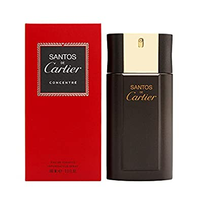 CARTIER Santos De For Men Concentrate Edt Spray 3.3 Oz (Packaging May Vary), Multi