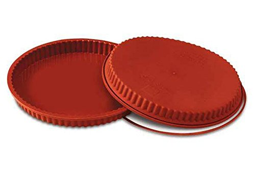 Silikomart SFT424/C Silicone Classic Collection Flan/Tart Pan, 9.5-Inch