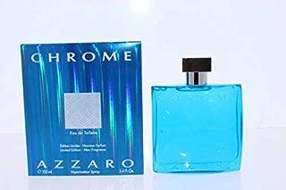 Azzārŏ Chrŏmė Limited Edition Cologne for Men 3.4 fl. Oz / 100 ml Eau De Toilette Spray