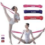 Banda elastica in lattice per allenare la flessibilità, da fissare intorno al piede, adatta per danza e ginnastica, Purple