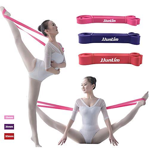 Latex weiches Ballett-Stretch-Band für volle Flexibilität, leicht zu öffnen, für Tanz- & Gymnastik-Training, Dehnen der Füße, Ballett, violett, 21mm wide purple