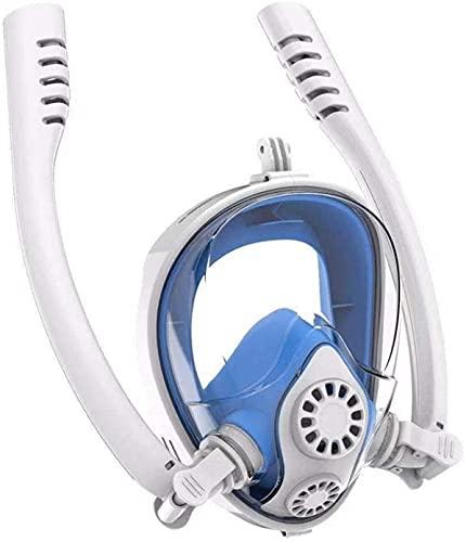 Mascara Buceo Mascarillas de Buceo bajo el Agua antiiezca Cara Completa máscara de Snorkeling Nadando Equipo de Snorkel Equipo de Snorkel Profesional para Adultos y niños
