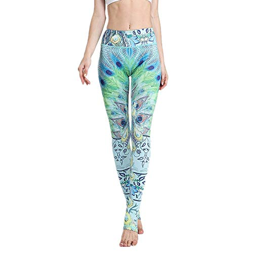 Home's Leggings De Yoga De Cintura Alta Sin Costuras para Mujer Stretch Gym Workout Running Leggings Verde