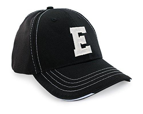 morefaz Homme Femme Bonnet Chapeau Casquette Snapback Baseball Cap Mesh Respirante Alphabet Letters A-Z Snap Back (E)