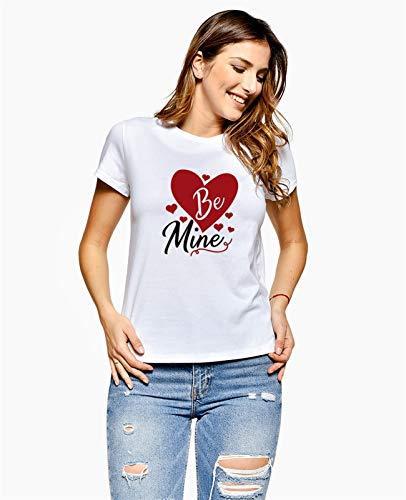 DEALBUHK Camiseta de manga corta para el día de San Valentín, para parejas, con texto en inglés 'Is my Couple Love', es la mejor opción para regalar (color: A, talla: XXL)