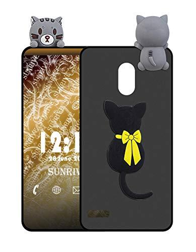 Sunrive Cover per Samsung Galaxy S4, Custodia 3D Case in Molle Matte TPU Silicone Morbida Flessibile AntiGraffio Protettiva Protector Back custodie Bumper(W1 Gatto)
