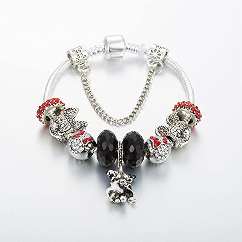 SONGK Pulseras con dijes de Moda, brazaletes, joyería para Mujer, Pulseras de tamaños de Cacerola para Regalos de niña
