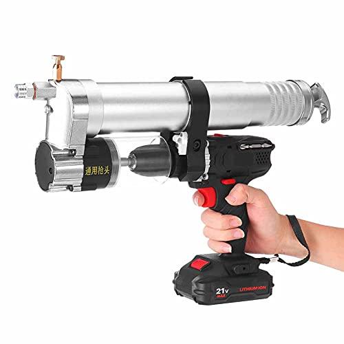 Pistola de engrase eléctrica 21V, 600cc inalámbrico inalámbrico inalámbrico excavador de alta...