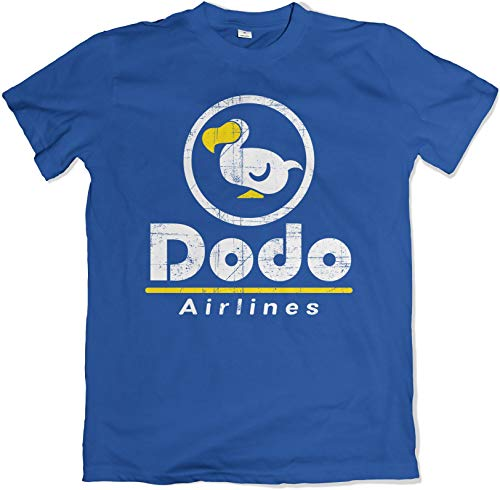 Teamzad Dodo Airlines Crossing The Animal Kingdom Spiel Herren Blau T Shirt Medium