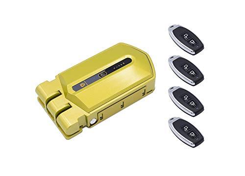 Cerradura Invisible Golden Shield Alarm con 4 mandos y alarma de 95db